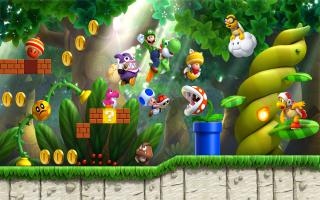 Deze keer is het aan Luigi, de Toads en... Nabbit? Wat heeft die hier te zoeken?