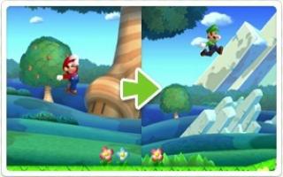 ... maar Luigi kan een stuk hoger springen en remt langzamer af dan normaal...