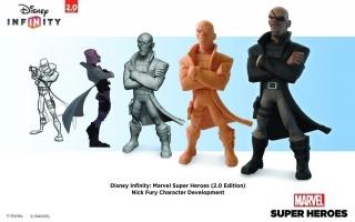 Hier zie je hoe Nick Fury aan zijn intimiderende pose is gekomen.