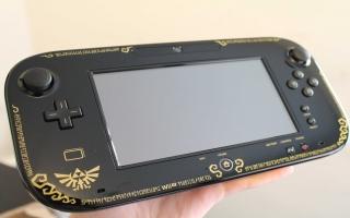De Wii U GamePad is helemaal in de stijl van Zelda! Gaaf toch?