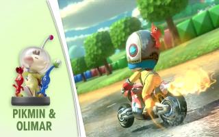Ontgrendel een Olimar kostuum in <a href = https://www.mariowii-u.nl/Wii-U-spel-info.php?t=Mario_Kart_8>Mario Kart 8</a>.