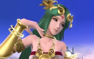 Palutena zoals ze verschijnt in <a href = https://www.mariowii-u.nl/Wii-U-spel-info.php?t=Super_Smash_Bros_for_Wii_U>Super Smash Bros for Wii U</a>.