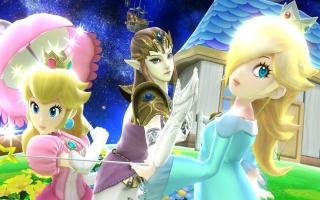 Prinses Peach zoals zij verschijnt in Super Smash Brothers for <a href = https://www.mariowii-u.nl>Wii U</a>.