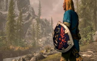 Verkrijg <a href = https://www.mariowii-u.nl/Wii-U-spel-info.php?t=The_Legend_of_Zelda_Breath_of_the_Wild>The Legend of Zelda: Breath of The Wild</a>-gear in The Elder Scrolls V: Skyrim (Switch).