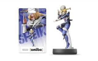 Deze Sheik-amiibo komt uit de <a href = https://www.mariowii-u.nl/Wii-U-spel-info.php?t=Super_Smash_Bros_for_Wii_U>Super Smash Bros</a>.-lijn.