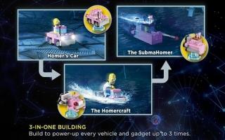 Ook Homer's auto kan in 3 verschillende versies voorkomen!