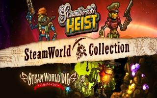 Kies tussen SteamWorld Dig en SteamWorld Heist in het hoofdmenu.