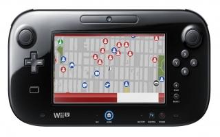 Op de GamePad wordt de telefoon van Spider-Man geprojecteerd, met onder andere een kaart van de stad.