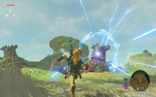 Link rent hier weg van een gevaarlijke guardian.<br /> Zal hij ontsnappen?