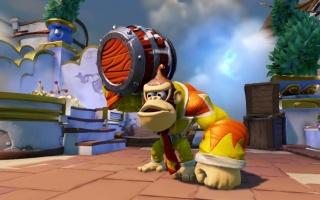 Speel als Nintendo's beroemde aap in <a href = https://www.mariowii-u.nl/Wii-U-spel-info.php?t=Skylanders_SuperChargers>Skylanders SuperChargers</a>.