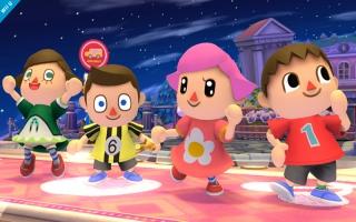 Villager in zijn (of haar!) vele vormen in super Smash Brothers for <a href = https://www.mariowii-u.nl>Wii U</a>.