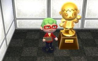Of ontgrendel een beeldje om huizen mee te decoreren in <a href = https://www.mario3ds.nl/Nintendo-3DS-spel.php?t=Animal_Crossing_Happy_Home_Designer>Animal Crossing: Happy Home Designer</a>!