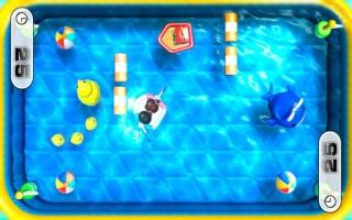 Speel ook minigames die enkel gebruikmaken van de gamepad zoals dit roeispel.