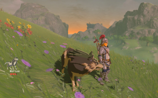 Wolf Link in Zelda <a href = https://www.mariowii-u.nl/Wii-U-spel-info.php?t=The_Legend_of_Zelda_Breath_of_the_Wild>Breath of the Wild</a>.