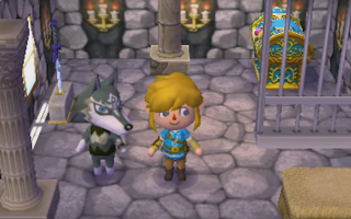Wolf Link zoals hij verschijnt in <a href = https://www.mariowii-u.nl/Wii-U-spel-info.php?t=Animal_Crossing_amiibo_Festival>Animal Crossing</a> New Leaf.