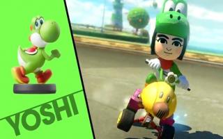 In <a href = https://www.mariowii-u.nl/Wii-U-spel-info.php?t=Mario_Kart_8>Mario Kart 8</a> werkt de Wollen Mega-<a href = https://www.mariowii-u.nl/Wii-U-spel-info.php?t=Yoshi_Nr_3_-_Super_Smash_Bros_series>Yoshi amiibo</a> als een normale Yoshi amiibo!