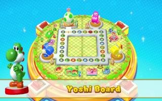 Je kunt Yoshi in <a href = https://www.mariowii-u.nl/Wii-U-spel-info.php?t=Mario_Party_10>Mario Party 10</a> gebruiken om een nieuw Amiibo bord vrij te spelen.
