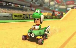 Ontgrendel met deze amiibo een Yoshi kostuum in <a href = https://www.mariowii-u.nl/Wii-U-spel-info.php?t=Mario_Kart_8>Mario Kart 8</a>.