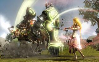 Ontgrendel een exclusief wapen in <a href = https://www.mariowii-u.nl/Wii-U-spel-info.php?t=Hyrule_Warriors>Hyrule Warriors</a> met de Zelda amiibo!