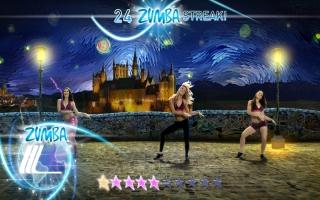 In deze game beoefen je Zumba op allerlei internationale locaties, zoals... Zweinstein?