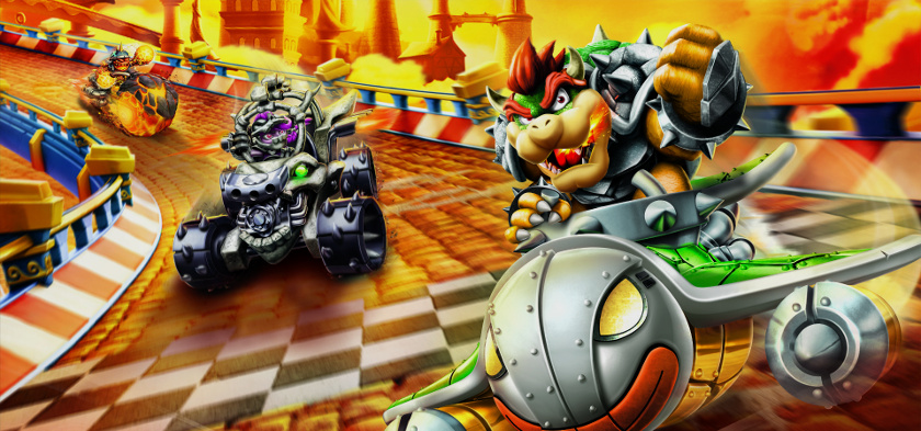 Skylanders SuperChargers Bowser in Clown Cruiser